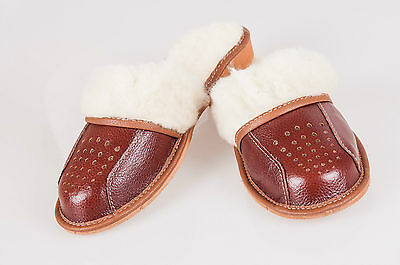 Clarks Silver real leather warmed wool ladies slippers size 3//35.5-5//38 D