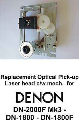 DENON DN 2000F Mk3 & DN 1800 F REPLACEMENT LASER HEAD  OPTICAL PICK UP c/w Mech.