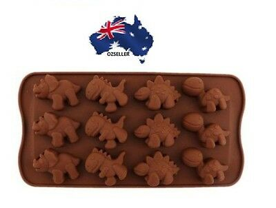 Dinosaur shape cake decorating cookie chocolate silicone mold mould gift