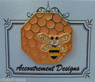 Accoutrement Designs Honeycomb Bee Needle Minder Magnet Mag Friends