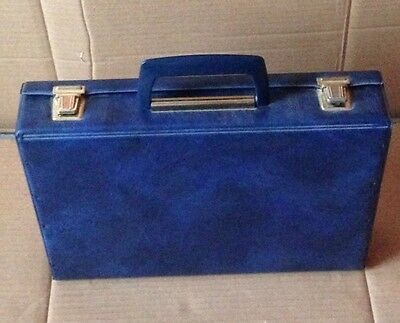 Dark Blue Storage / Travel / Carry Case for Cassette Tapes