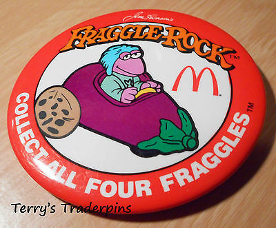 McDonalds Button Fraggle Rock Eggplant 1987 Pin Pinback