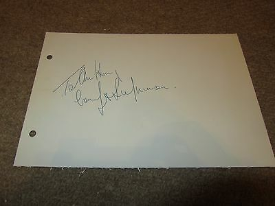 John Inman  -  Uk Comedy   Signed -  7X5 Inch Paper Page  - Genuine -  Uacc