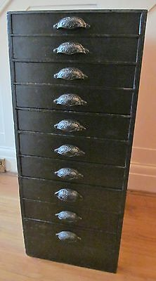Vintage Wooden Chest Of Drawers/ Filing Cabinet/watchmakers Cabinet