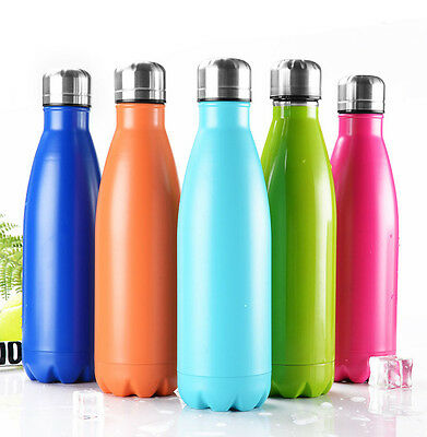 Insulated Stainless Steel Water Bottle Double Walled Tumbler Thermos Vacuum 17oz