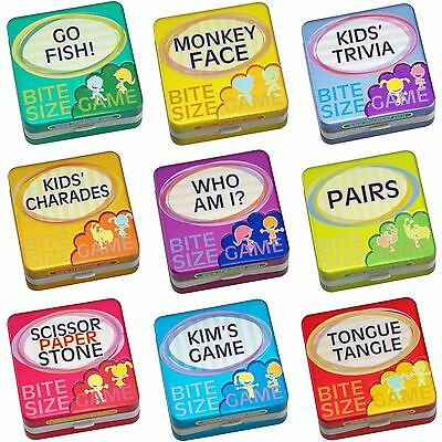 Bite Size Games Tin for Kids Children Fun Christmas Party Quiz Stocking Fillers