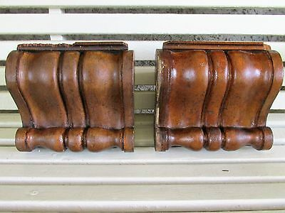 Vintage Pair of Oak Interior Corbels, Old House Salvage