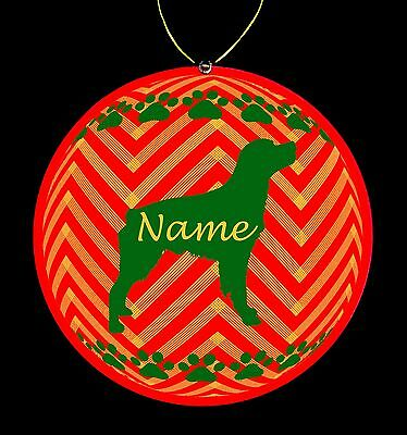 Brittany Spaniel Personalized Christmas Ornament