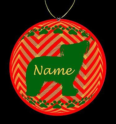 Chinese Crested Powder Puff Personalized Christmas Ornament