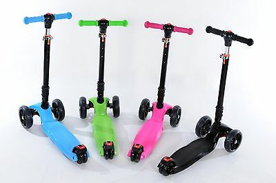 Scooter Kick Kids LED Wheel 3 Push Outdoor TRI Folding **High Quality