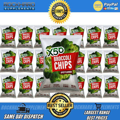 X50 Broccoli Chips Spicy Flavour Tribeca Health 20 Pack Tribecca Health