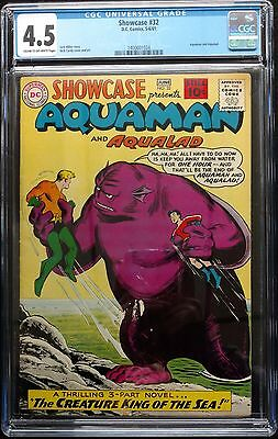 Showcase 1961 #32+33 Cgc 4.5+6.0 Early Aquaman Apps. Cream To Off White Pages