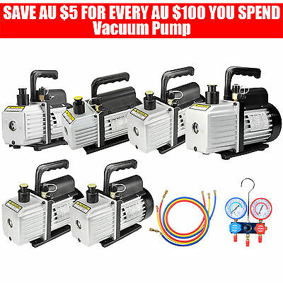 Vacuum Pump Single/2 Stages Air Conditioning Refrigeration Tools Manifold Gauges