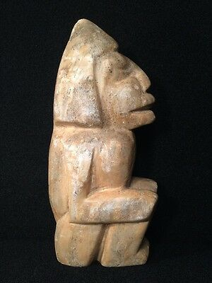 Stone Carved God Deity Statue Old Antique Pre-Colombian Mayan?