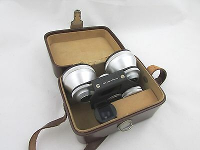 Stereo Redufocus 25mm Wide Angle Attachement + Case for Stereo Realist Steinheil