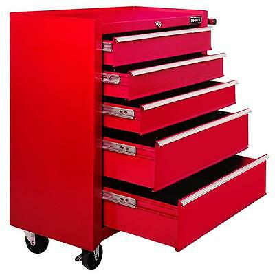 NEW 5 Drawers Roller Toolbox Cabinet Large Heavy Duty Mechanic Tool Box RED