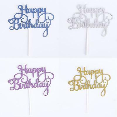 Happy Birthday Glitter Cake Toppers/Cake Decorations/Party Supplies/Decorations