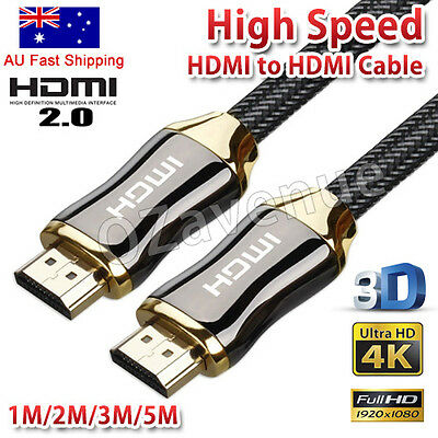 Ultra Premium HDMI Cable Gold Plated V2.0 3D 4K HD High Speed Ethernet 1M ~5M