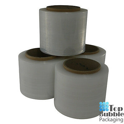 Clear Bundling Film - 100mm x 300m 20um 4 Rolls FREE SHIPPING Stretch Wrap Small