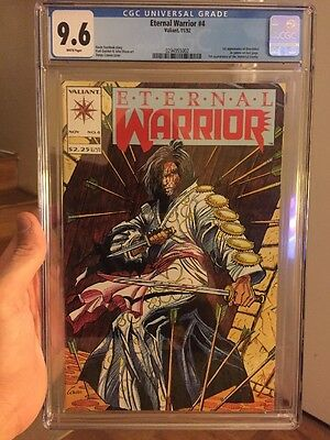 Eternal Warrior #4 CGC 9.6 1st BLOODSHOT Valiant 2 Sony Pictures Movies Coming!