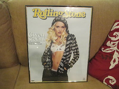 """Gewn Stefani 2005 Rolling Stone Cover Framed Poster (20 x 16) Funky E. """"MANCAVE"""""""