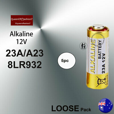 5 x A23/23A/8LR932 12V Powercell Alkaline Battery Batteries for Alarm/Remote