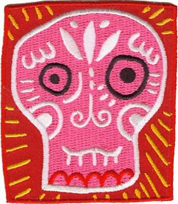 Application Candy Skull Square Patch