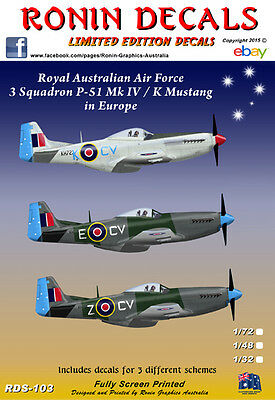 1/32 RAAF 3 Sqn P-51 MkIV / K Mustang's in Europe with data
