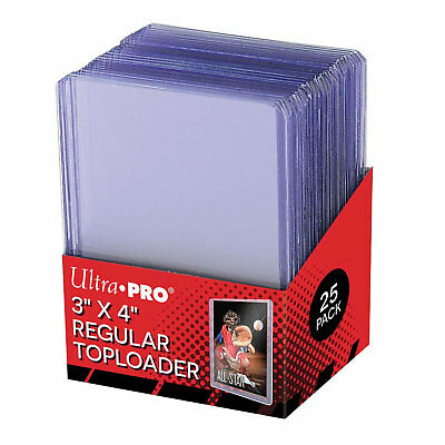 "Ultra Pro 3"" x 4"" Regular Toploader Card Protectors - 4 (FOUR) Packets of 25"
