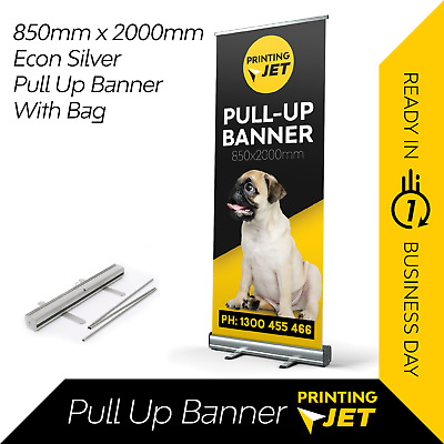 Pull up banner / Roll up Banner (Non Curl Printing) 850mm x 2000mm