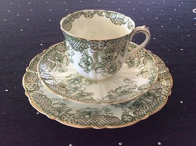 Blairs China Vintage Tea Cup Saucer N Plate Trio Rare Find