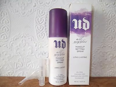 100% AUTHENTIC Urban Decay All Nighter Makeup Setting Spray 2ml Sample