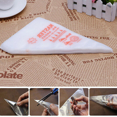 100pcs Disposable Cream Pastry Cake Icing Piping Decorating Drcorate Bag Tool