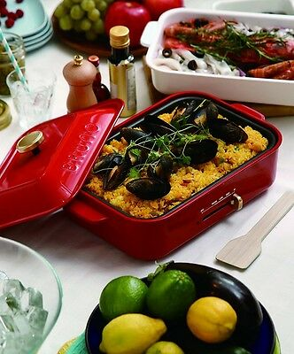 New BRUNO Compact Hot Plate Red BOE021-RD AC100W Grill Takoyaki DHL Free ship