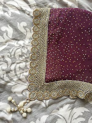 sequin studs saree with pearls and stones indian traditional partywear