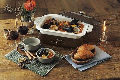 New BRUNO Compact Hot Plate Brown BOE021-BR AC100W Grill Takoyaki DHL Free ship