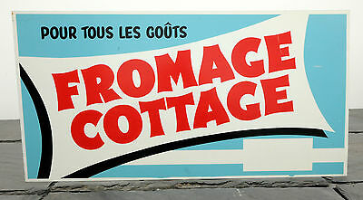 "1960's Sealtest Dairy Cottage Cheese RARE French Canadian Metal Sign 12"" x 23.75"