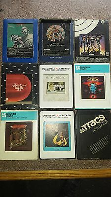 8-track tapes (lot of 9) plus head cleaner
