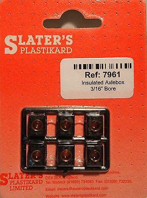 "Slaters 7961 - 7mm - 6 x 3/16"" Bore Insulated Axlebox Hornblock - 1st Class Post"