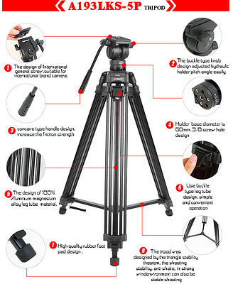 """Proaim HOT SALE! DIAT 67"""" Tripod Stand for Wedding Hollywood Video FREE SHPPING"""