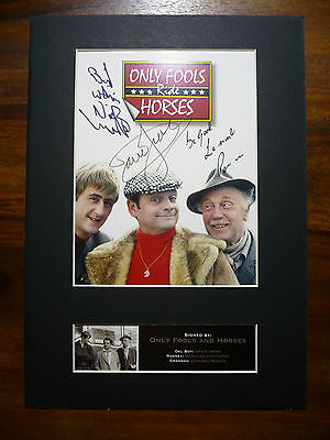 ONLY FOOLS AND HORSES Signed  MOUNTED Photo...BIG A4 size !