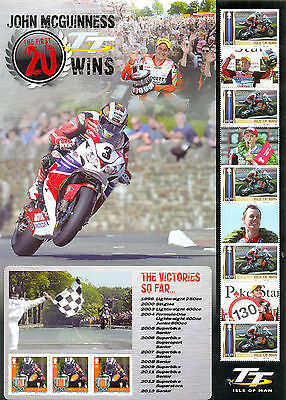 Isle of Man-TT Races-2014-Motorcycles special sheet 2014-John McGuiness-mnh