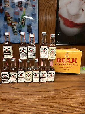 Set Of 12 Jim Beam 50Ml Mini / Minis From The 70's & 80's -No Bookers / Rye