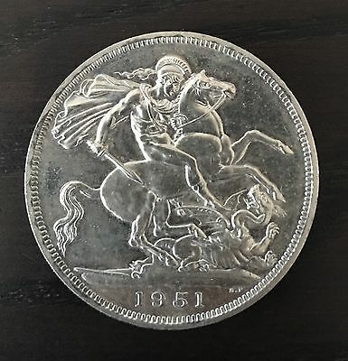 1951 FESTIVAL OF BRITAIN CROWN - George VI Coin - Rare and Uncirculated