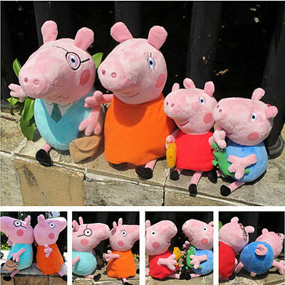 Peppa Pig Family Stuffed Figures Toy Doll George Mummy Daddy Baby Christmas Gift