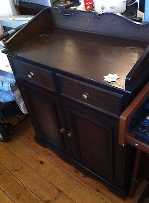 Stunning Vintage Cabinet Cupboard With Cutlery Drawers  Ideal For Shabby Chic ?