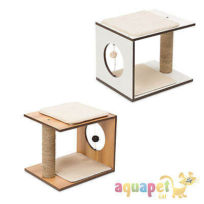 Vesper V-Stool - Expandable play and sleeping spot for cats - Walnut or White • EUR 54,70
