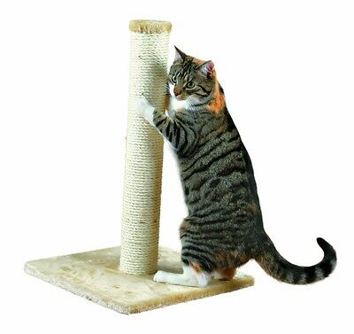 HERITAGE CAT KITTEN BEIGE SCRATCHING POLE POST SCRATCHER SCRATCH SISAL 60185a