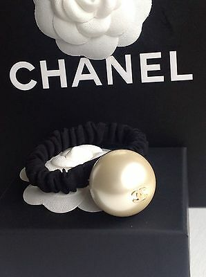 Chanel Large CC Pearl Bobble Hair Band Pom Pom Accessory Brand New 2016