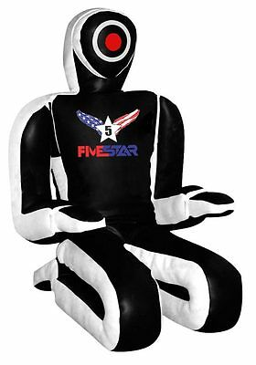 """Black And White Leather Submission Style MMA Grappling Dummy 69"""""""